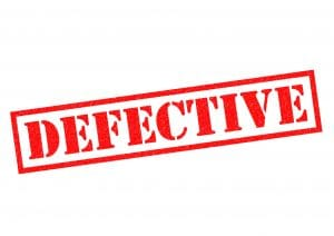 Examples of Defective Product Claims